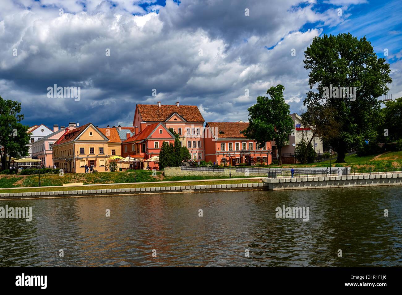 Minsk, Belarus. Trojeckaje Pradmiescie. Popular tourist place - Stock Image