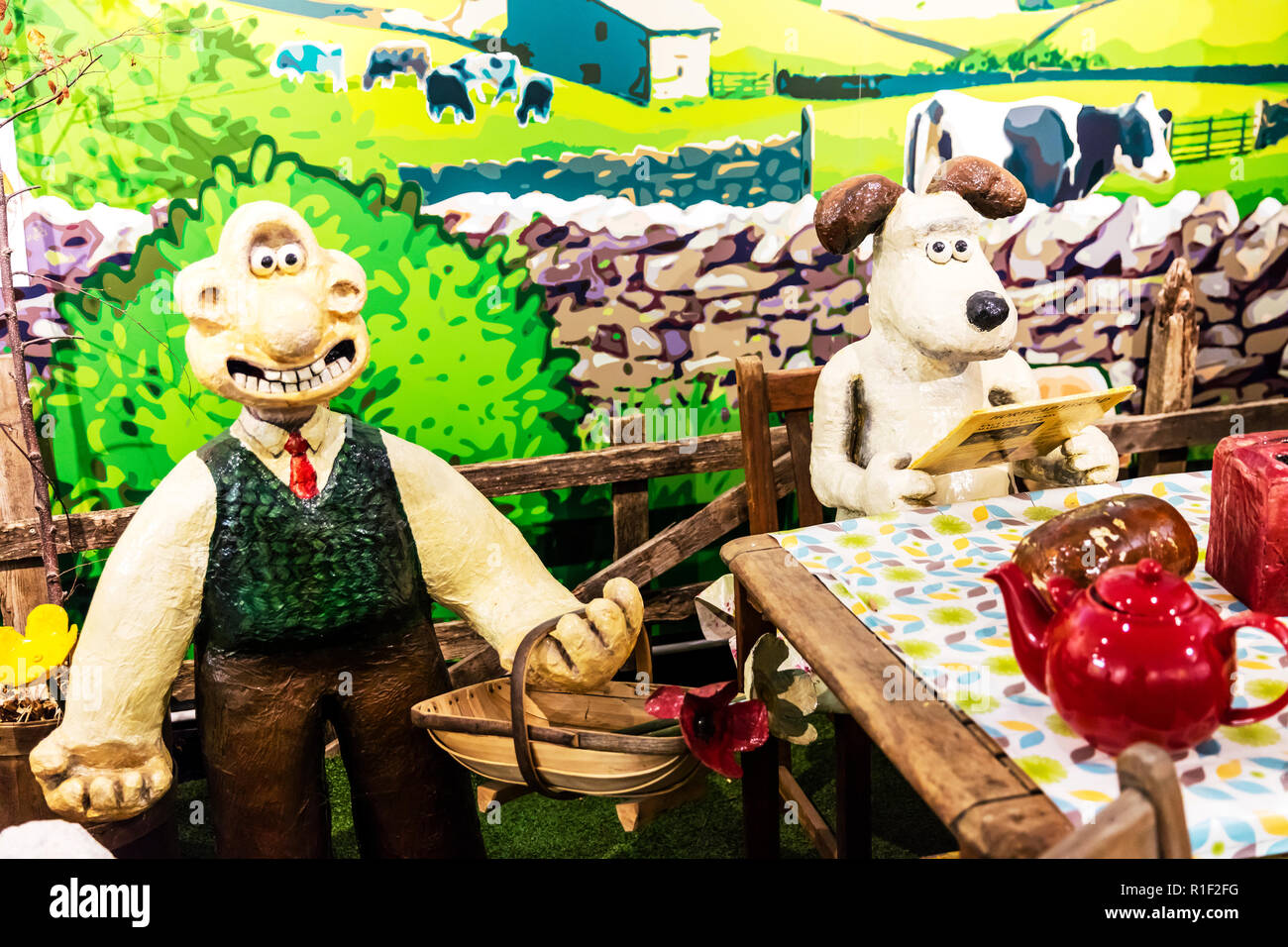 wallace & gromit, Wallace & Grommet, Grand Appeal and Aardman Animations, wallace and gromit characters, wallace and gromit Tv show, Wallace & gromit - Stock Image