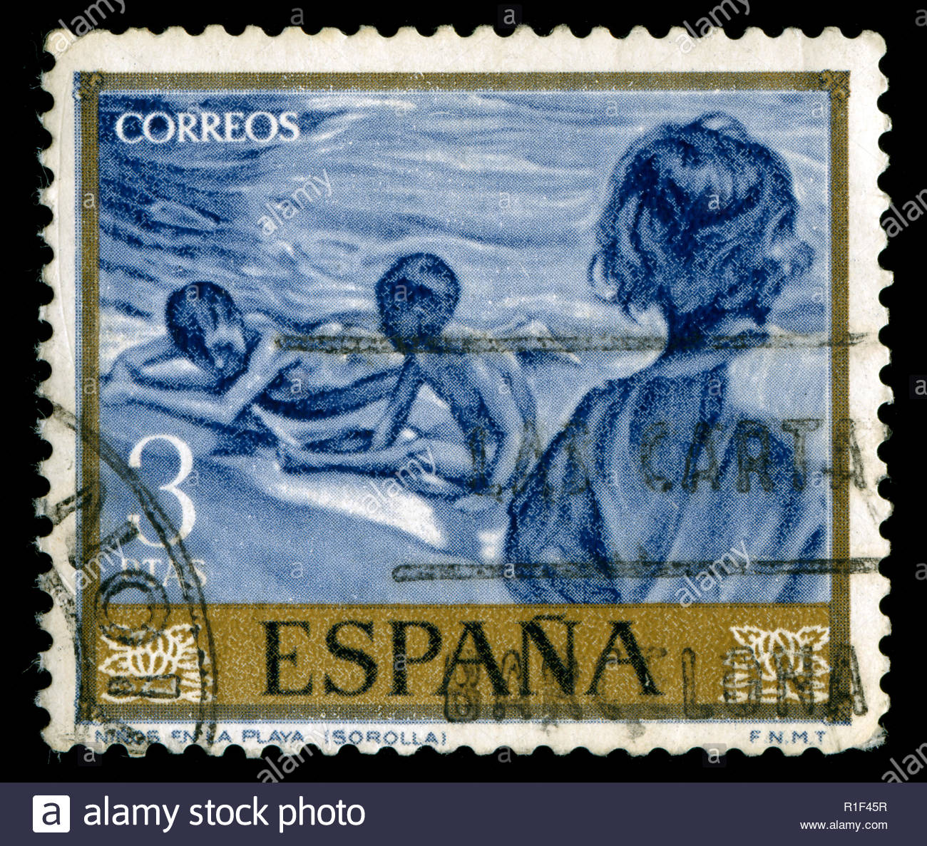 Postage Stamps From Spain In The Painters Sorolla Series Issued 1964