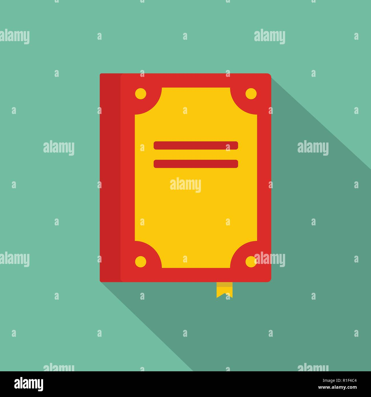 Book publication icon. Flat illustration of book publication vector icon for web - Stock Image