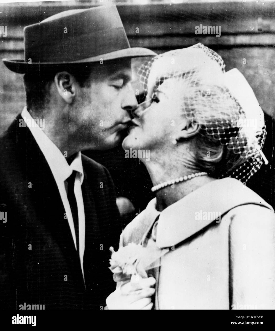 ginger rogers, william marshall, wedding in hollywood, 1961 - Stock Image