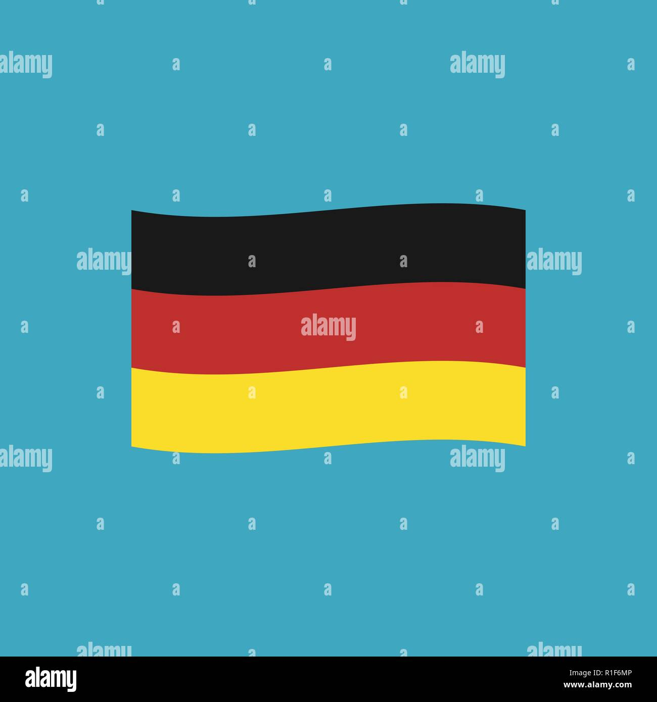 Germany flag icon in flat design. Independence day or National day holiday concept. - Stock Vector