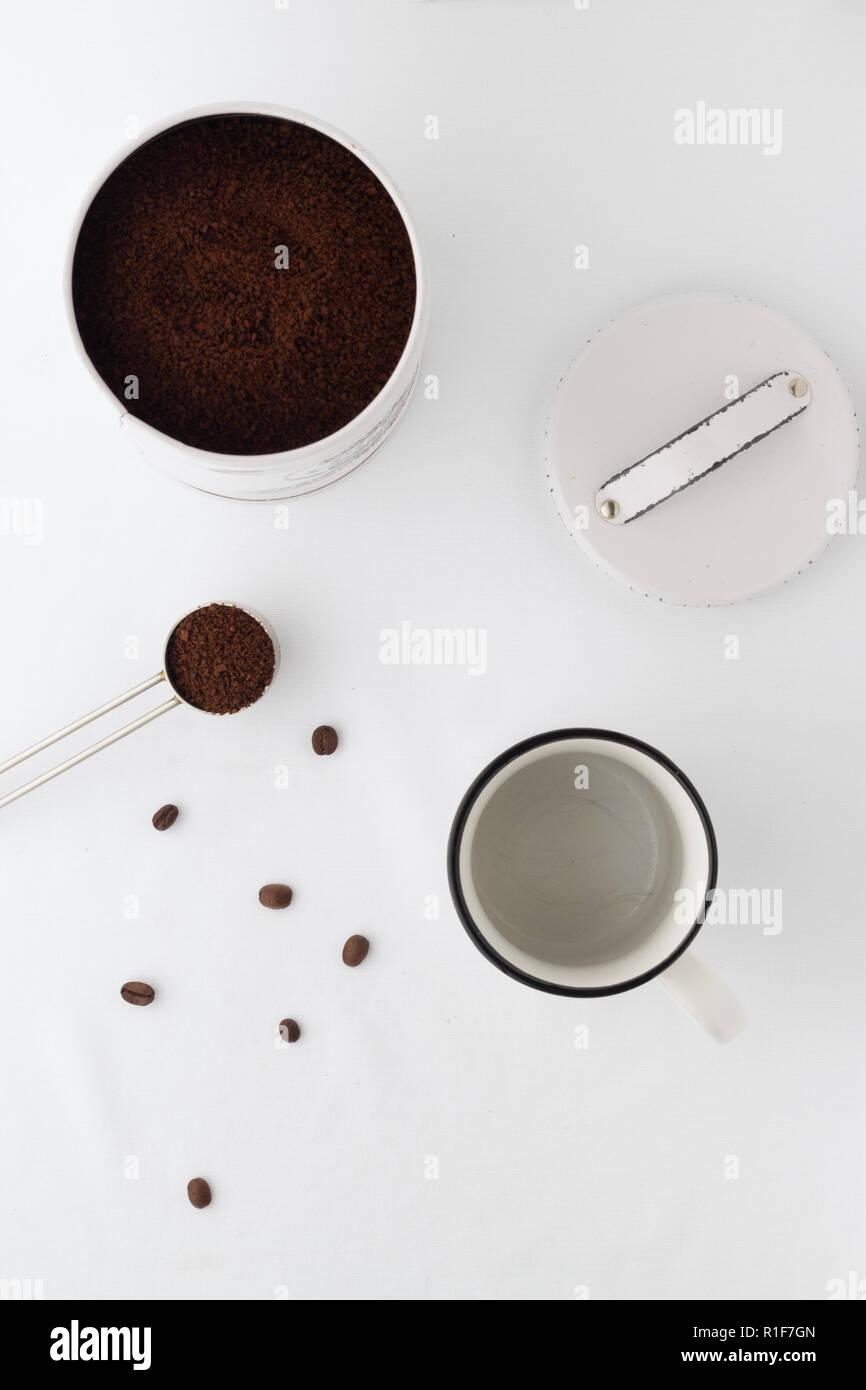 minimalistische Kaffeeszene Stock Photo