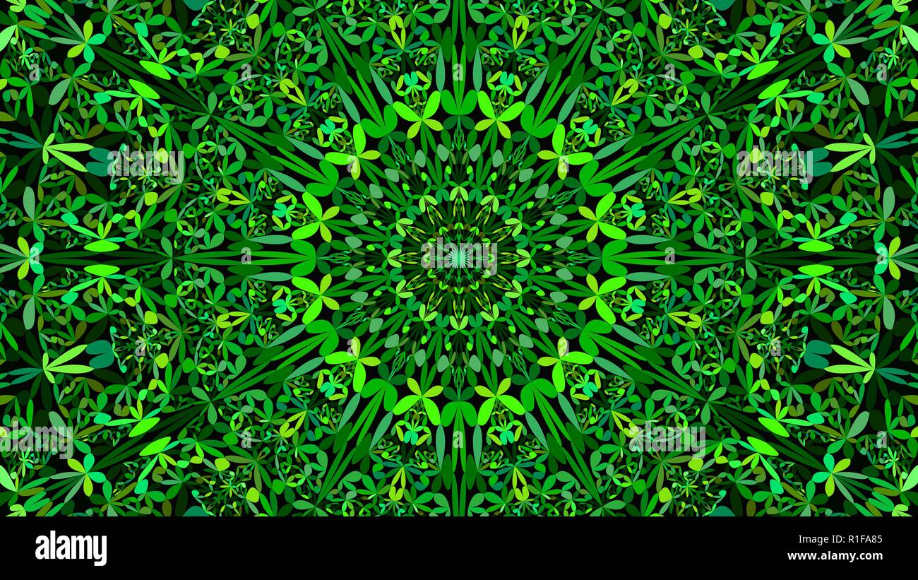 Green Floral Garden Mandala Pattern Wallpaper Ethnic Vector