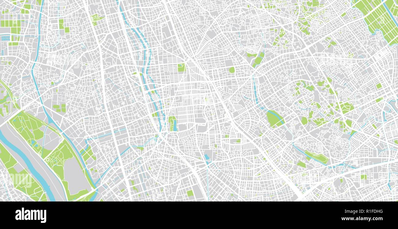 Urban Vector City Map Of Saitama Japan Stock Vector Art