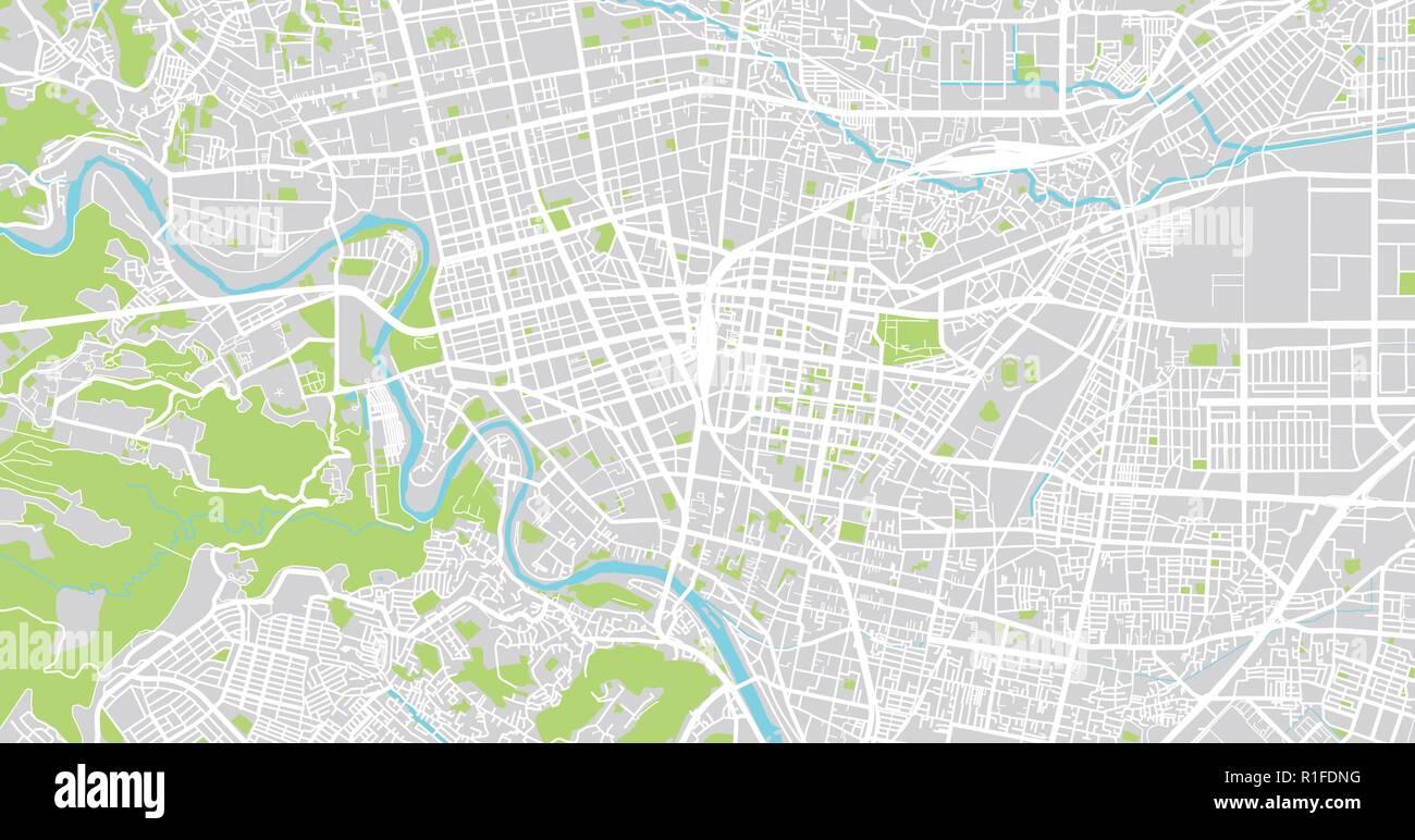 Sendai City Map Urban vector city map of Sendai, Japan Stock Vector Art