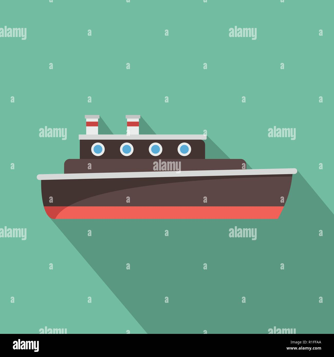 Ship travel icon. Flat illustration of ship travel vector icon for web Stock Vector