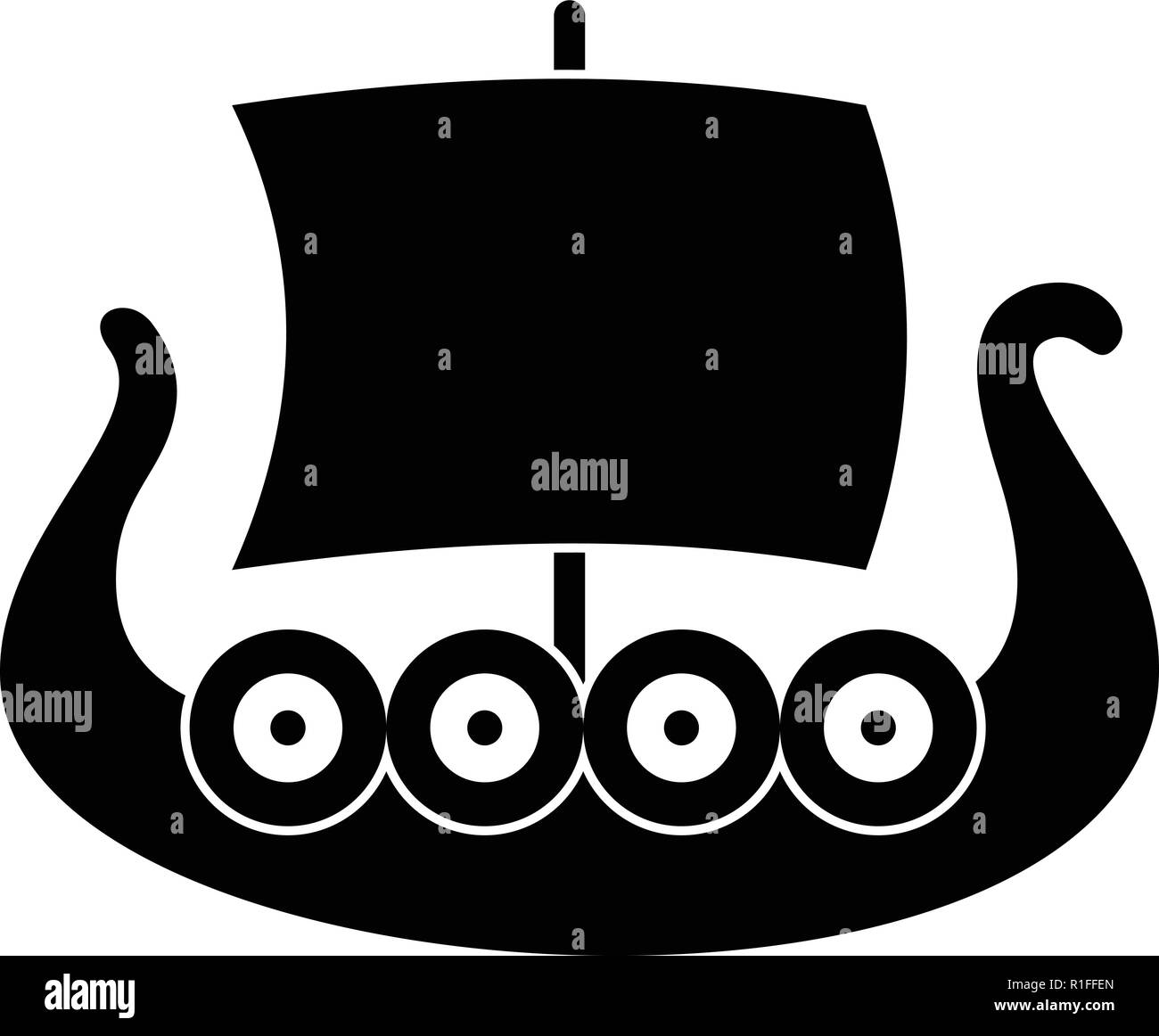 Ship Viking Icon Simple Illustration Of Ship Viking Vector Icon For Web Stock Vector Image Art Alamy