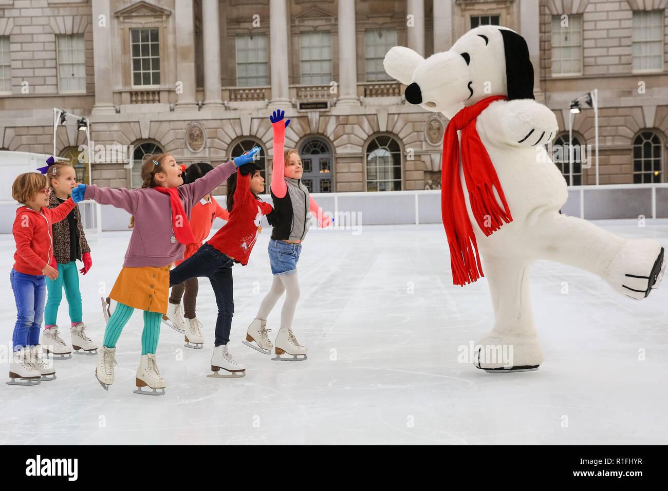 Somerset House, London, UK  12th Nov, 2018  Snoopy, Charlie