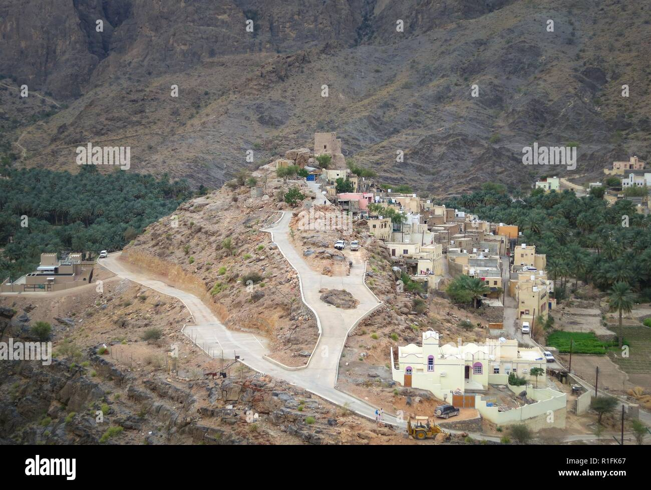 Bilad Sayt, Oman. 21st Nov, 2012. The mountain village of Bilad Sayt (Balad Sayt Village) is picturesquely situated on a slope of the Hajar Mountains (al Hajaral al Gharbi) in Oman. | usage worldwide Credit: dpa/Alamy Live News - Stock Image