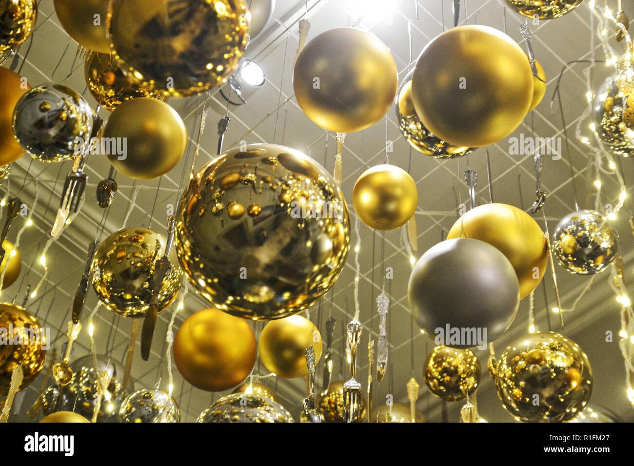 Aylesbury, Buckinghamshire, UK. 11 Nov, 2018. Waddesdon Manor Decorated for Christmas 2018. Christmas Carnival Theme. 10 Nov to 2 January 2019 Credit: Susie Kearley/Alamy Live News - Stock Image