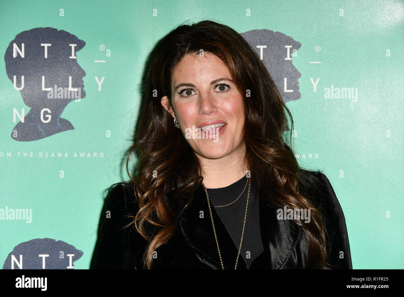 London, UK. 12th November, 2018. Monica Lewinsky attend The Diana Award anti-bullying week at Alexandra Palace on 12 November 2018, London, UK. Credit: Picture Capital/Alamy Live News Stock Photo