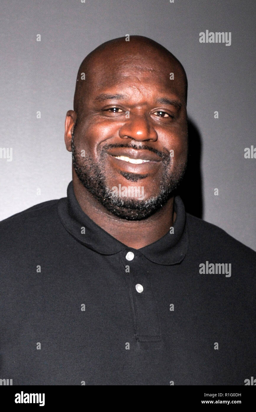 "New York, USA. 12th Nov 2018. Shaquille ""Shaq"" O'Neal attends the 'Killer Bees' New York Special Screening at Landmark 57 Theater on November 12, 2018 in New York City. Credit: Ron Adar/Alamy Live News Stock Photo"