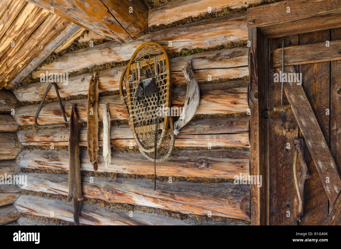 Frontier Log Cabin Stock Photos Frontier Log Cabin Stock Images