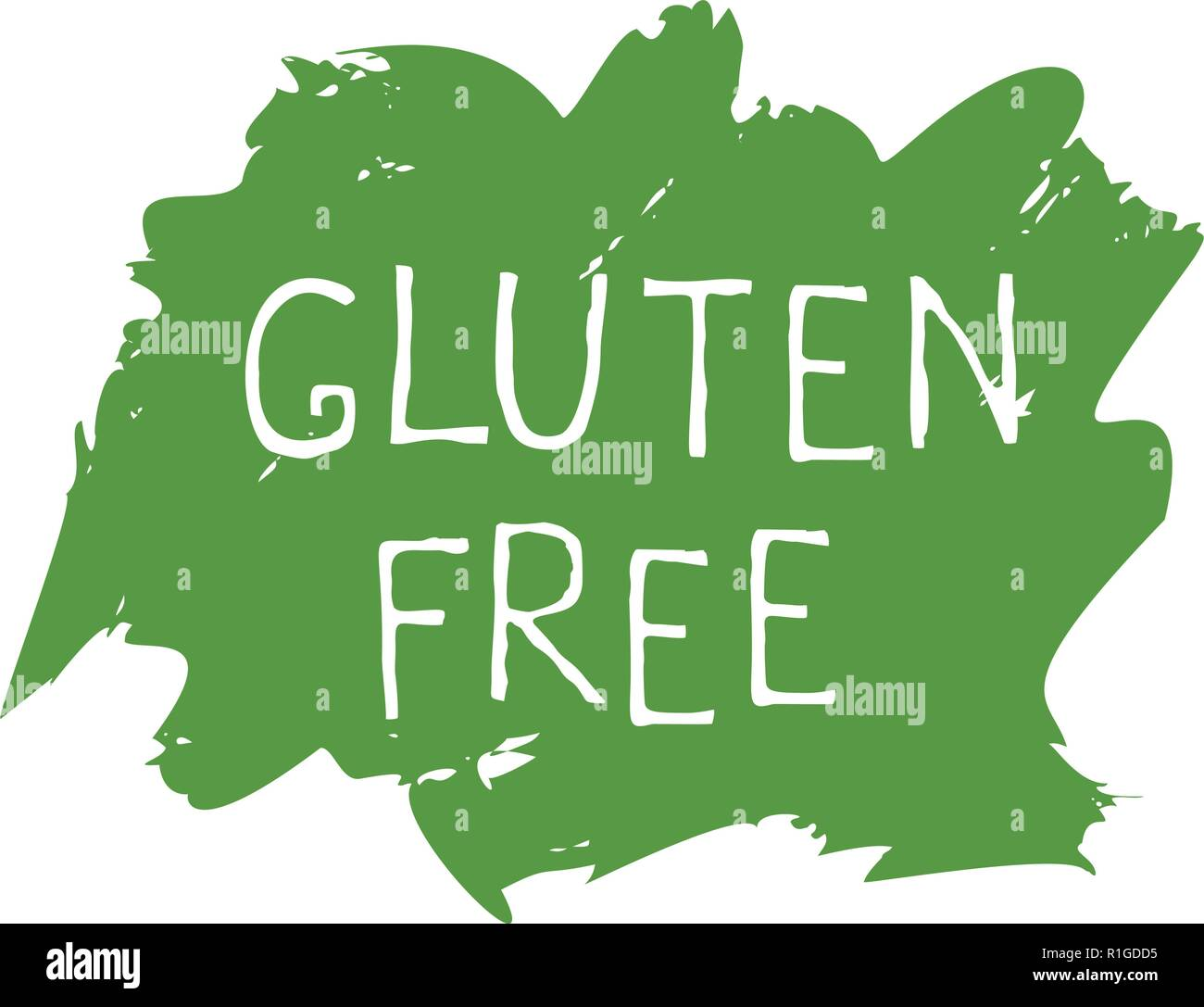 Gluten free food label and high quality product badges  Bio