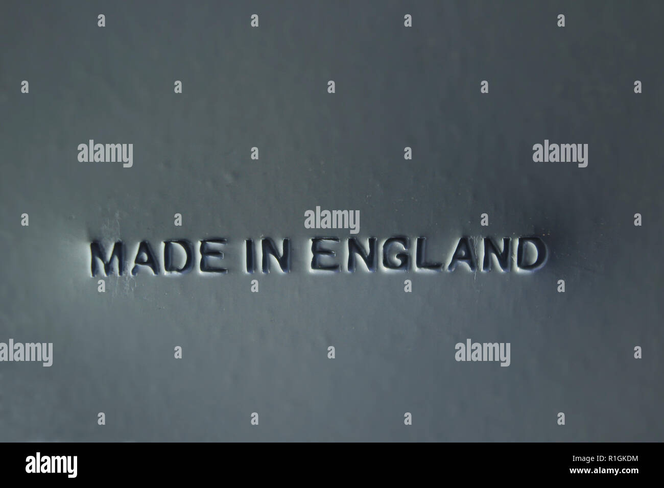 Made in England engraved in metal sheet - Stock Image