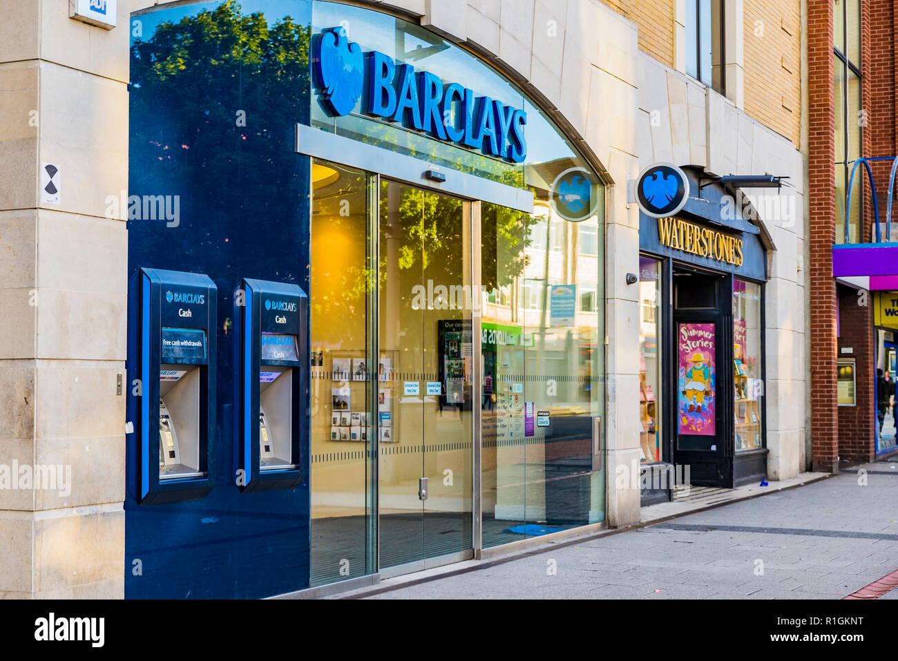 Branch of Barclays Bank. Southampton, Hampshire, England, United Kingdom, UK, Europe - Stock Image