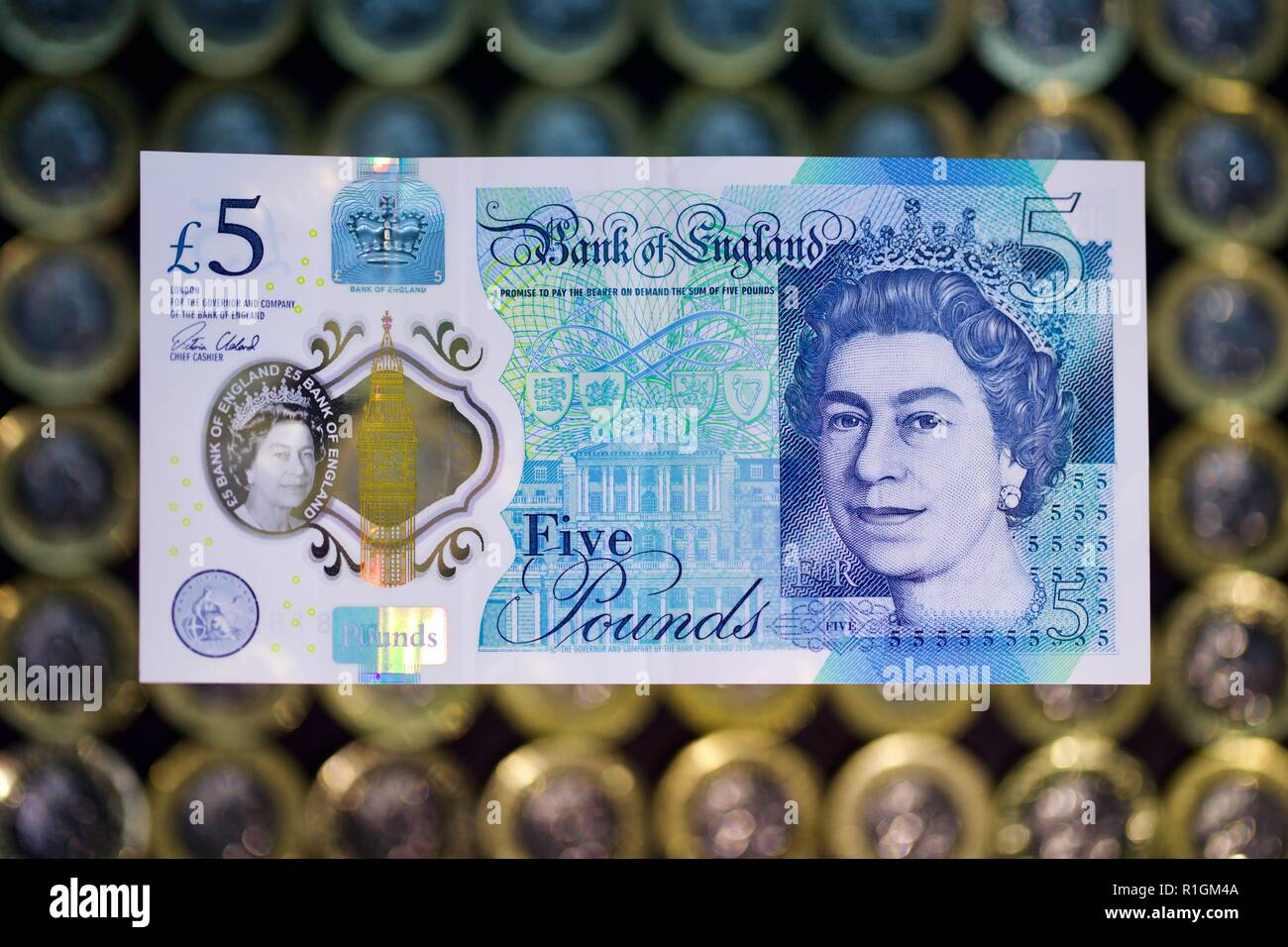 The Bank of England £5 note - Stock Image