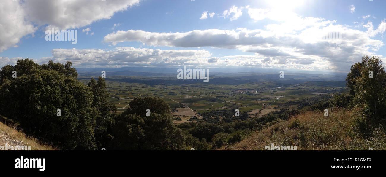 Panoramic of Santo Domingo de la Calzada, Camino de Santiago, Spain Stock Photo
