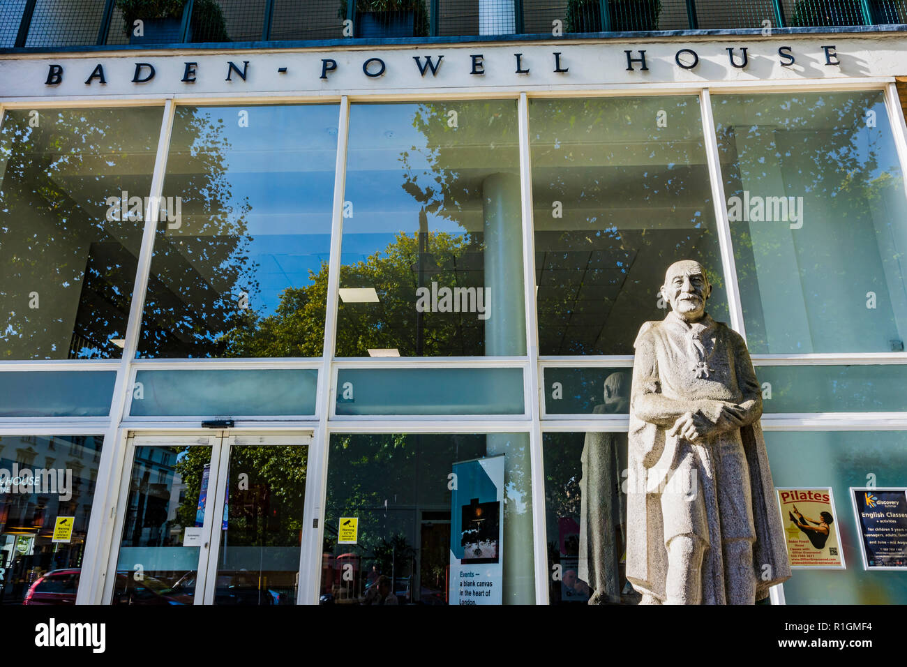 Baden-Powell House, colloquially known as B-P House, is a Scouting hostel and conference centre in South Kensington. London, England, United Kingdom - Stock Image