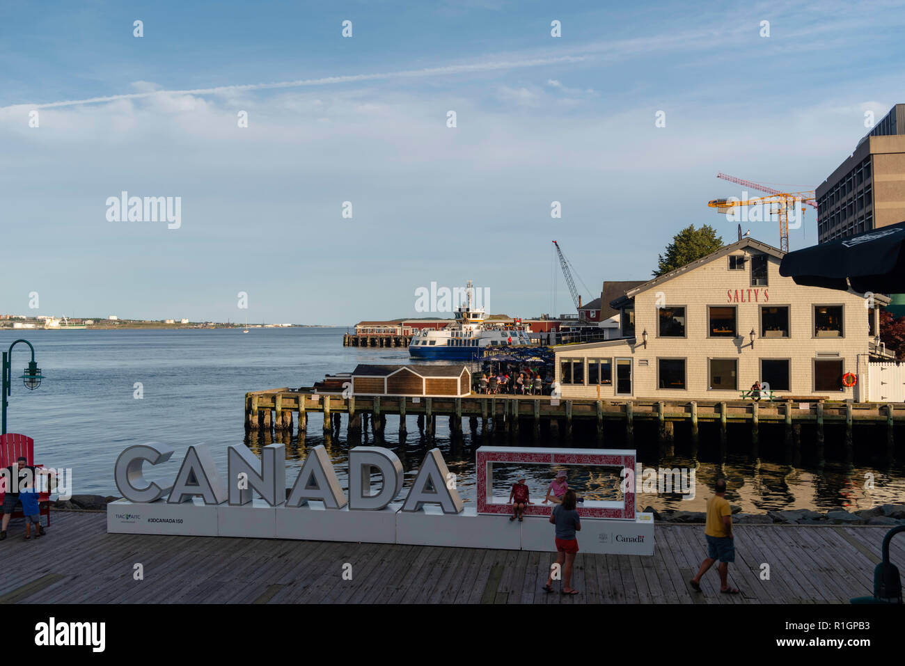 Images from a walk along Halifax Harbor. Halifax, Nova Scotia, Canada. Stock Photo