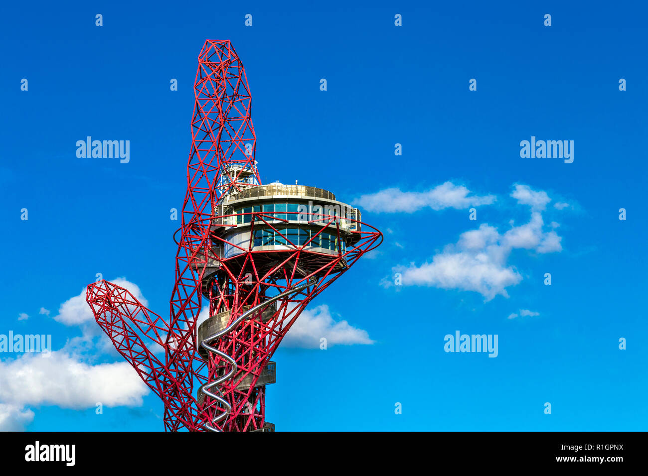 Arcelor Mittal Orbit by Anish Kapoor in the Olympic Village, London, England Stock Photo