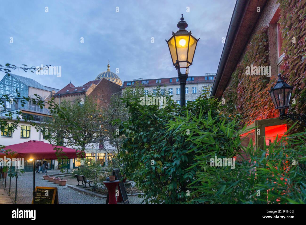 Heckmann courtyards , Heckmannhoefe,  twilight, - Stock Image