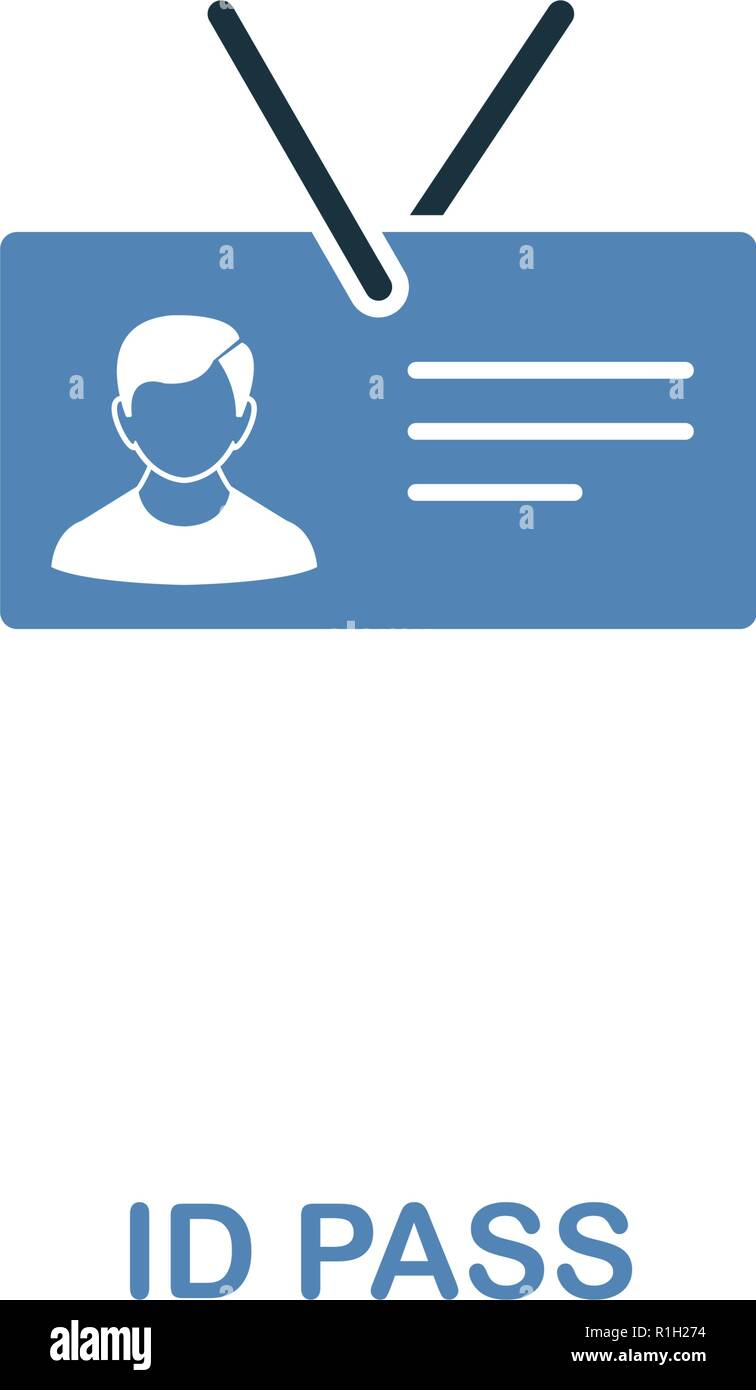 Id Pass icon in two colors  Premium design from internet