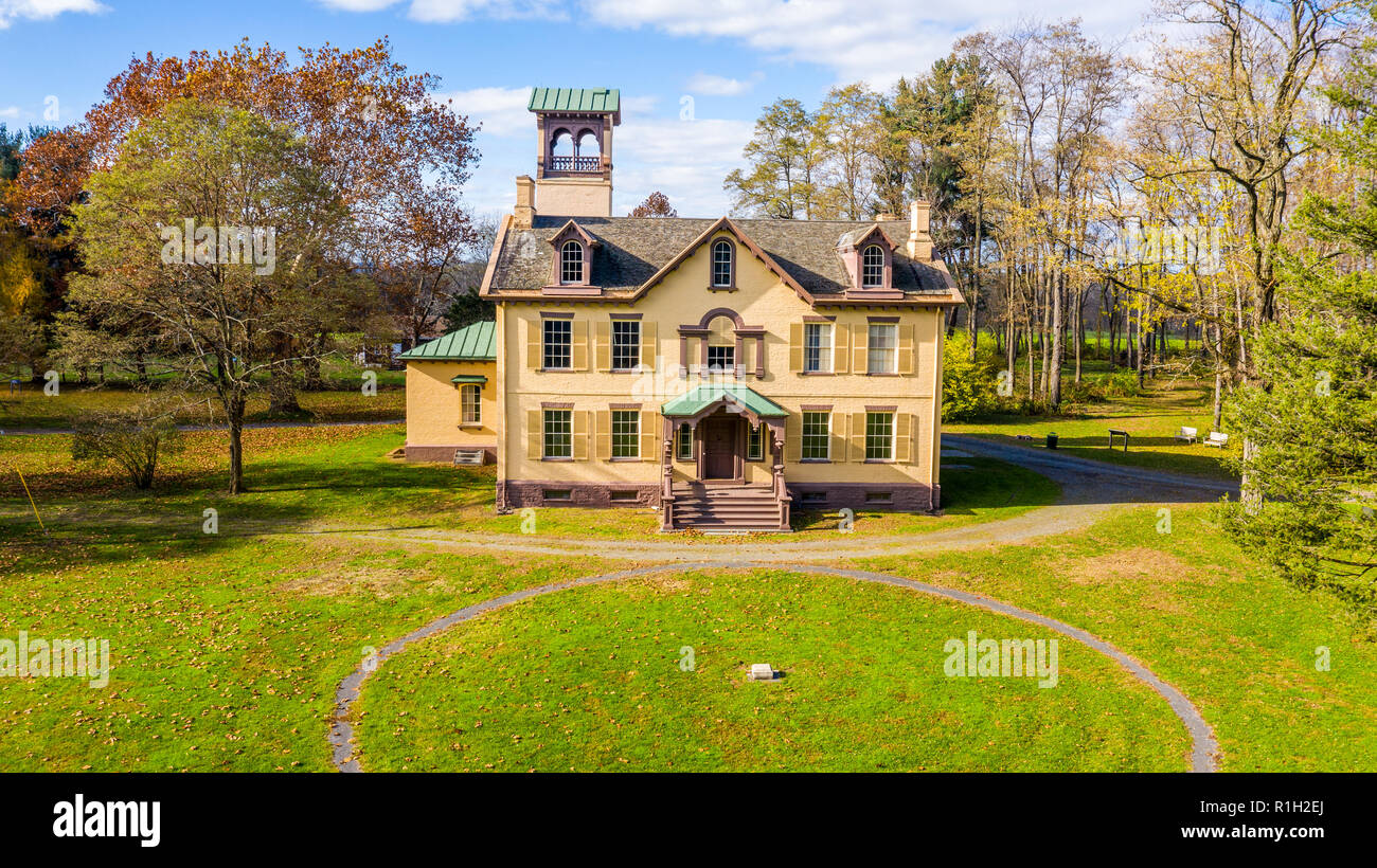 Lindenwald, Martin Van Buren Home, National Historic Site, Kinderhook, NY, USA - Stock Image