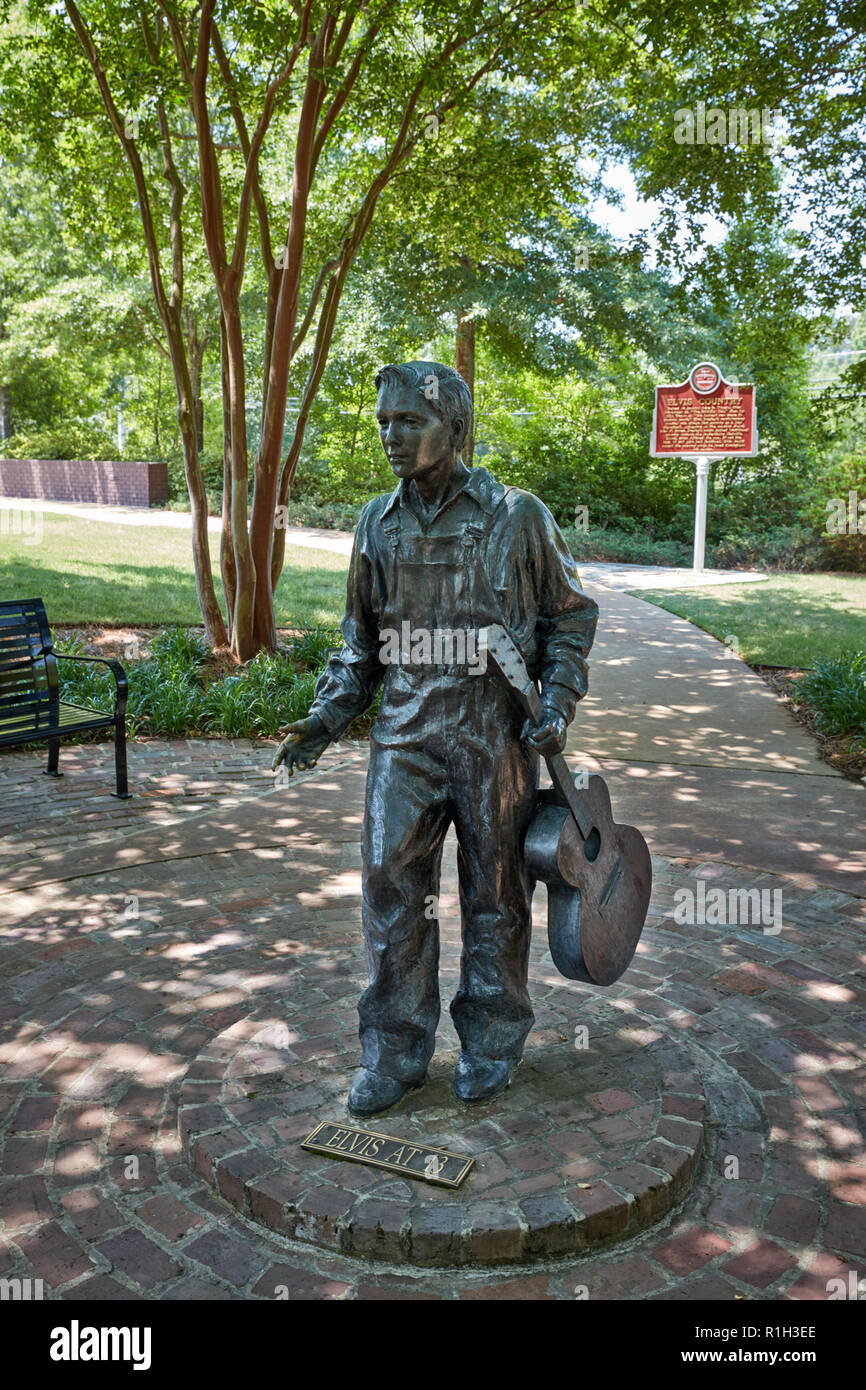 Elvis at 13 sculpture at the Elvis Presley Birthplace museum, Tupelo, Mississippi - Stock Image