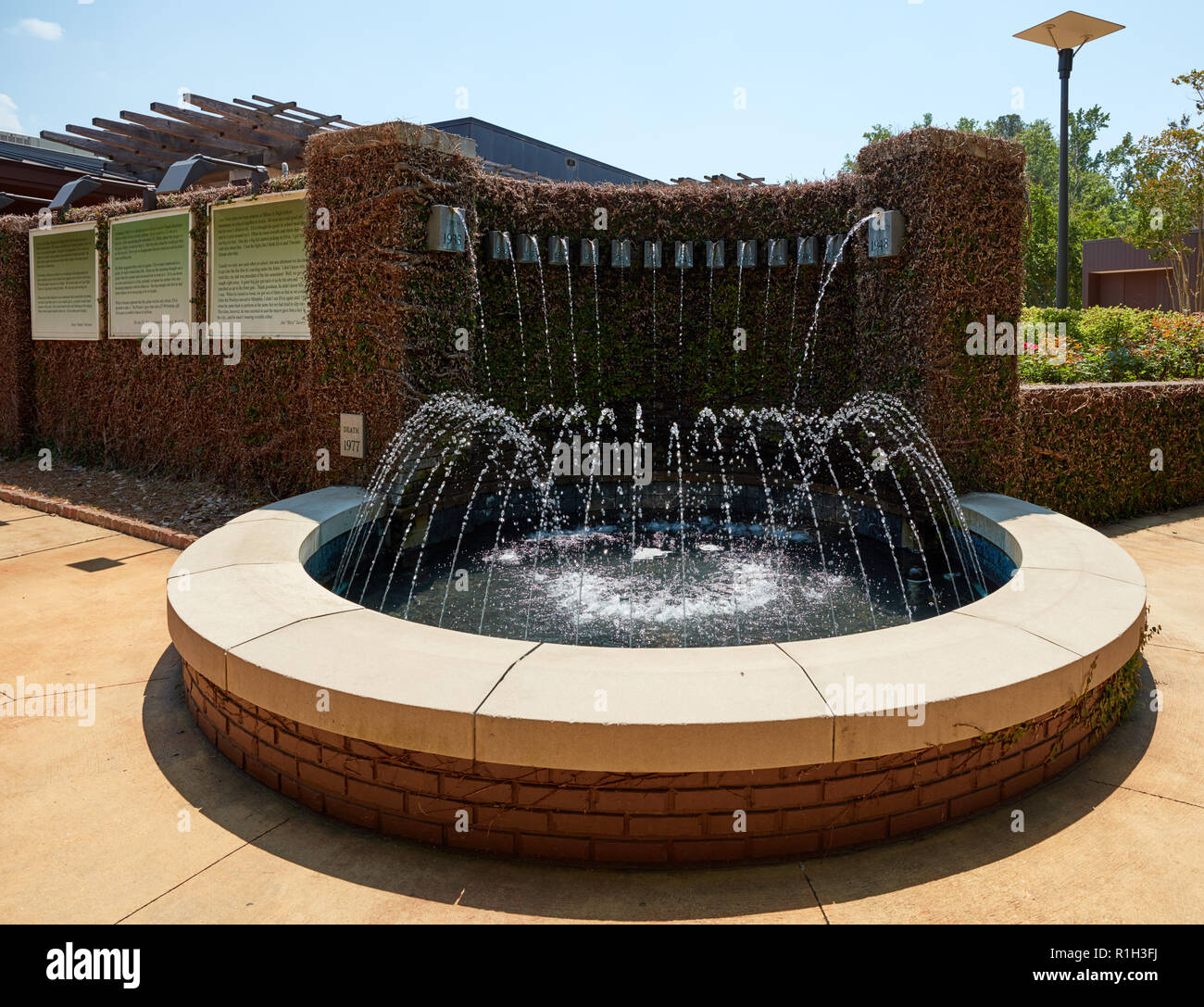 Fountain of Life at the Elvis Presley Birthplace museum, Tupelo, Mississippi - Stock Image
