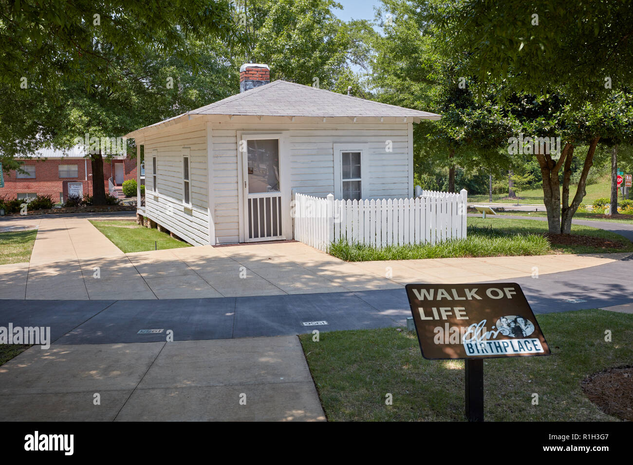 Birthplace of Elvis Presley, the King of Rock and Roll, in Tupelo, Mississippi - Stock Image