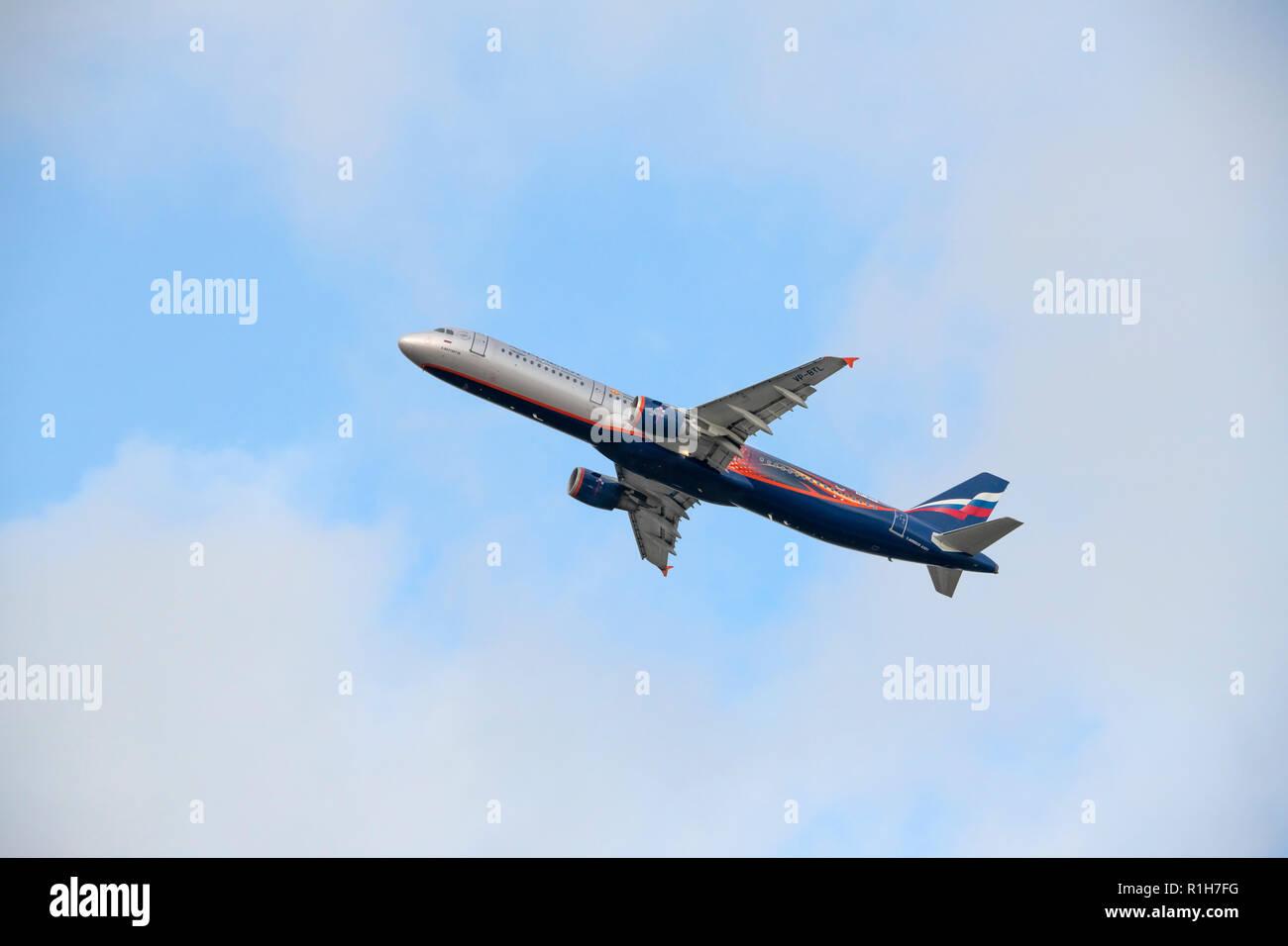 Aeroflot Airbus A321 - Stock Image
