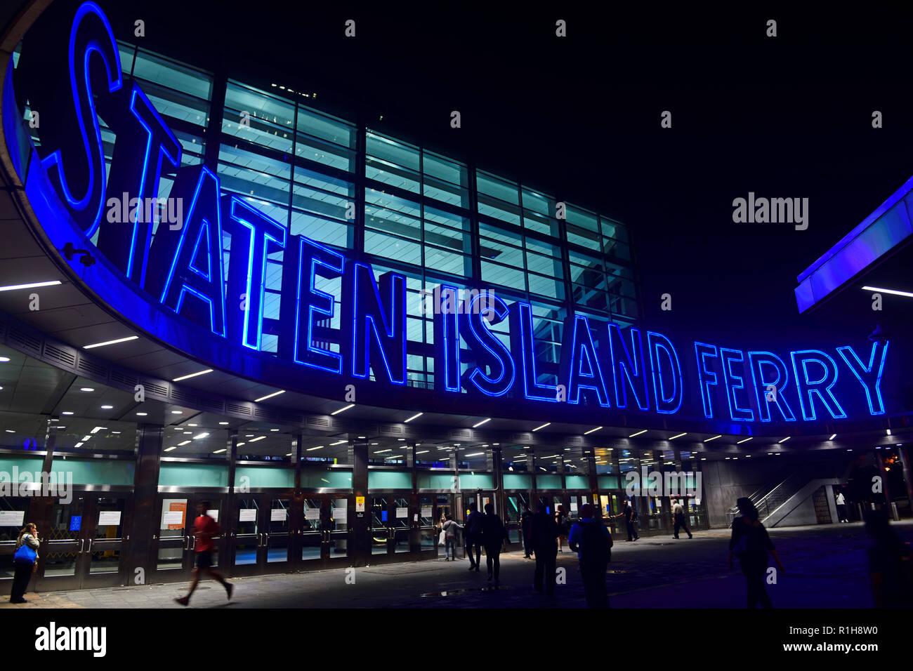 Staten Island Ferry Terminal, Manhattan, New York City, USA - Stock Image