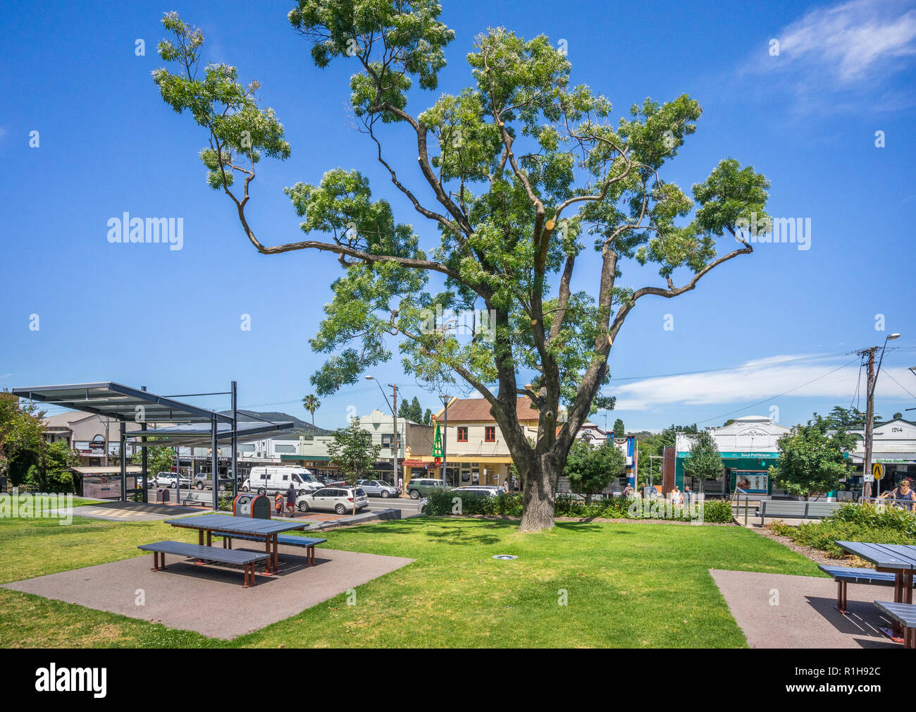 Shire Park at Rouse Street in the New England region country town of Tenterfield, New South Wales, Australia - Stock Image