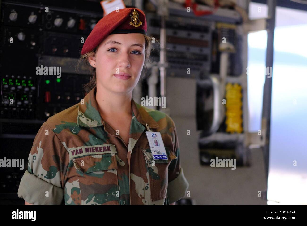 f67db33959f A member of the South African Army visits the inside of a C-17 Globemaster
