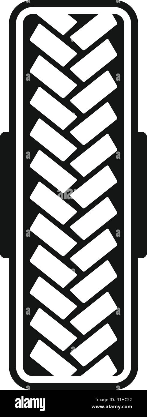 Tread pattern icon. Simple illustration of tread pattern vector icon for web Stock Vector