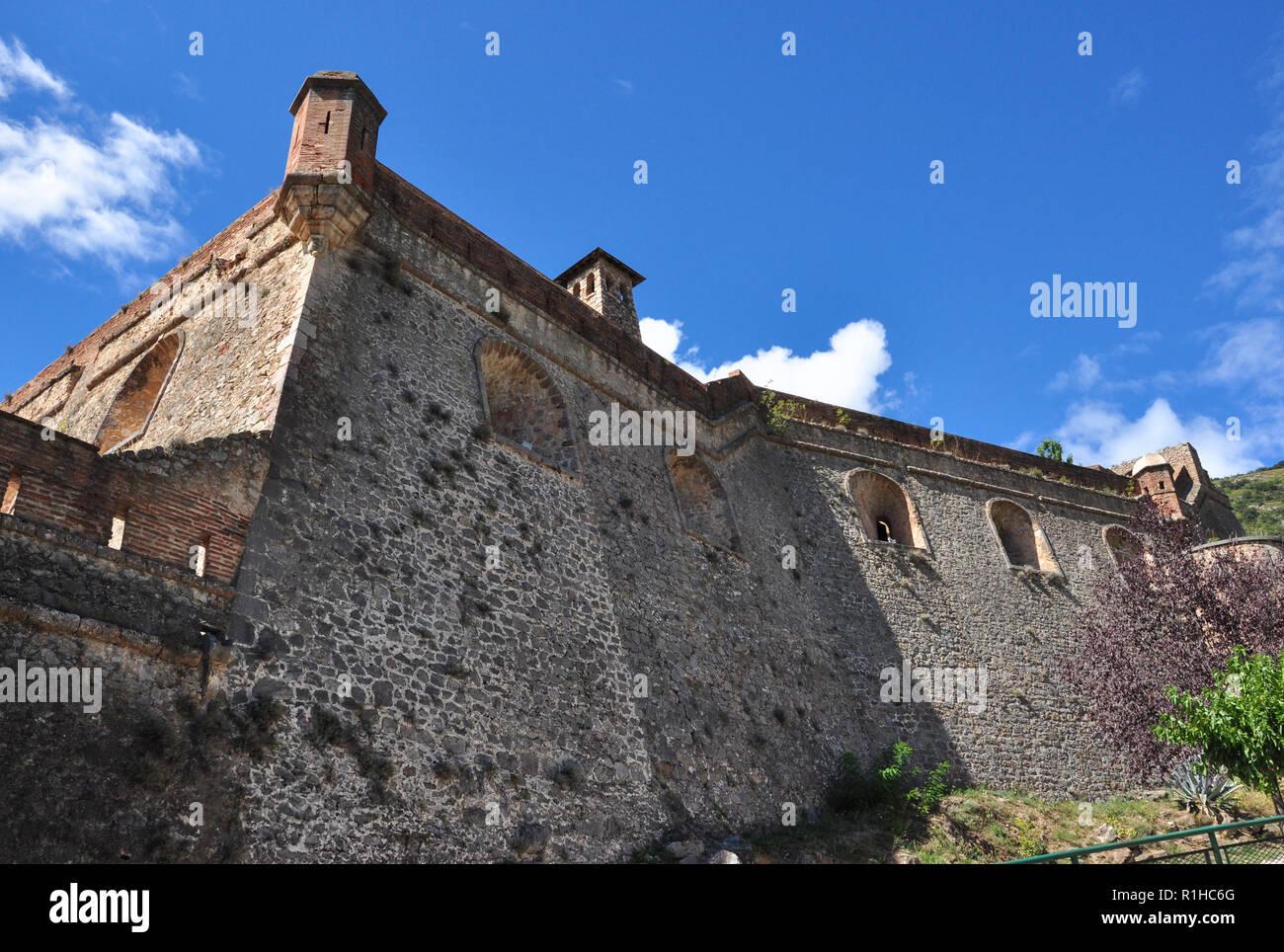 Fort Liberia, Villefranche-de-Conflent, Pyrenees-Orientales, Occitanie, France Stock Photo