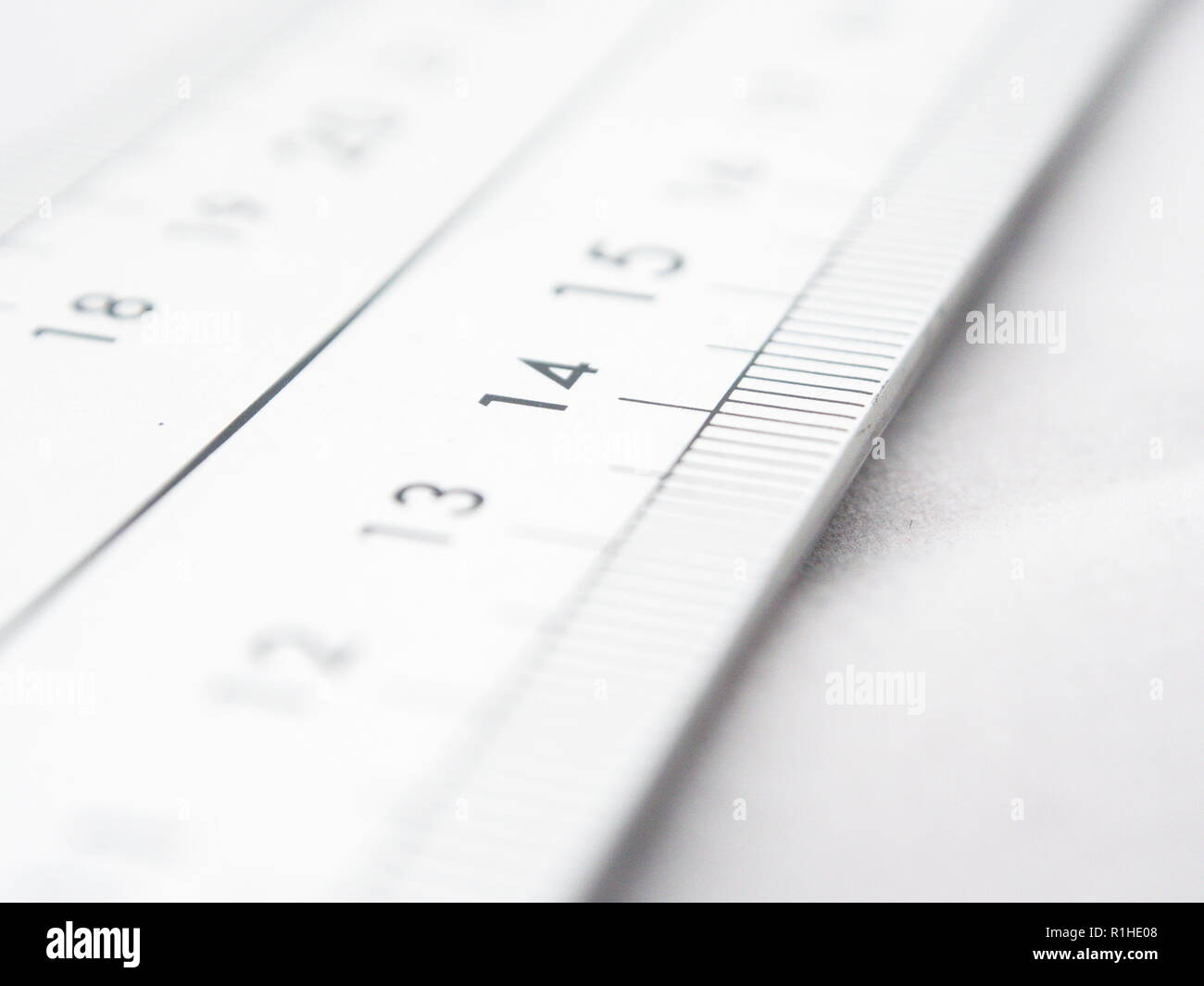Close up at a metric scale Stock Photo