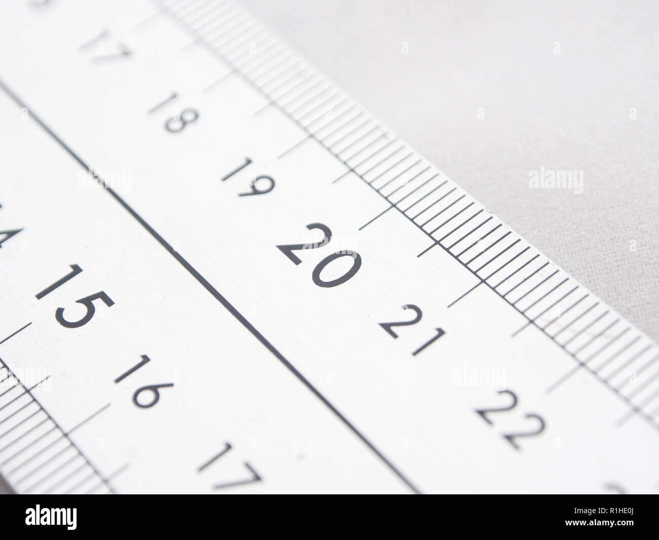 Close up at a metric scale - Stock Image