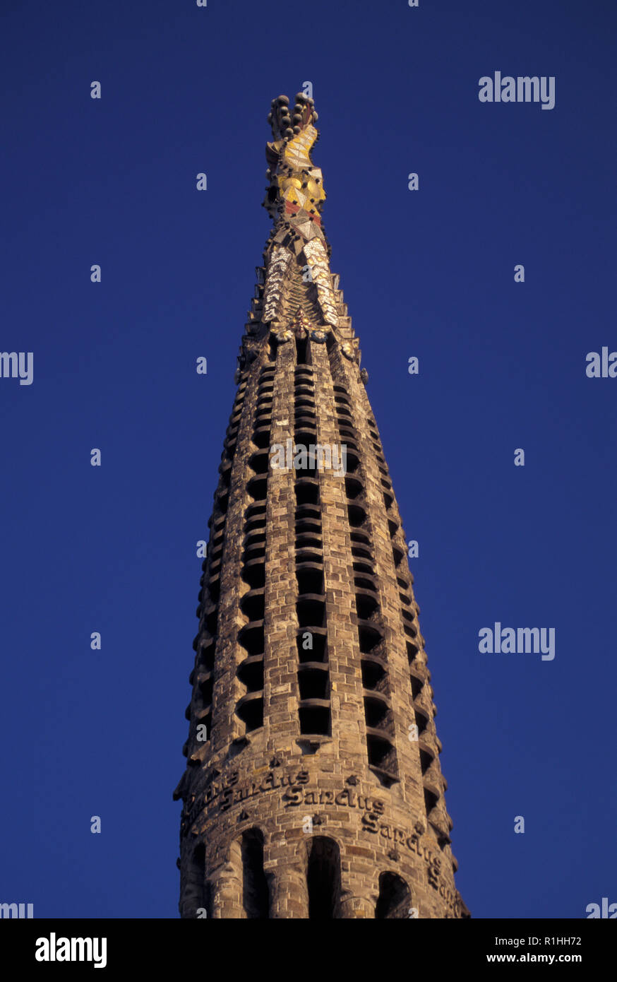 NOT_1128842 SPAIN BARCELONA Sagrada Familia designed by Catalan architect Antoni Gaudí (1852–1926) - Stock Image