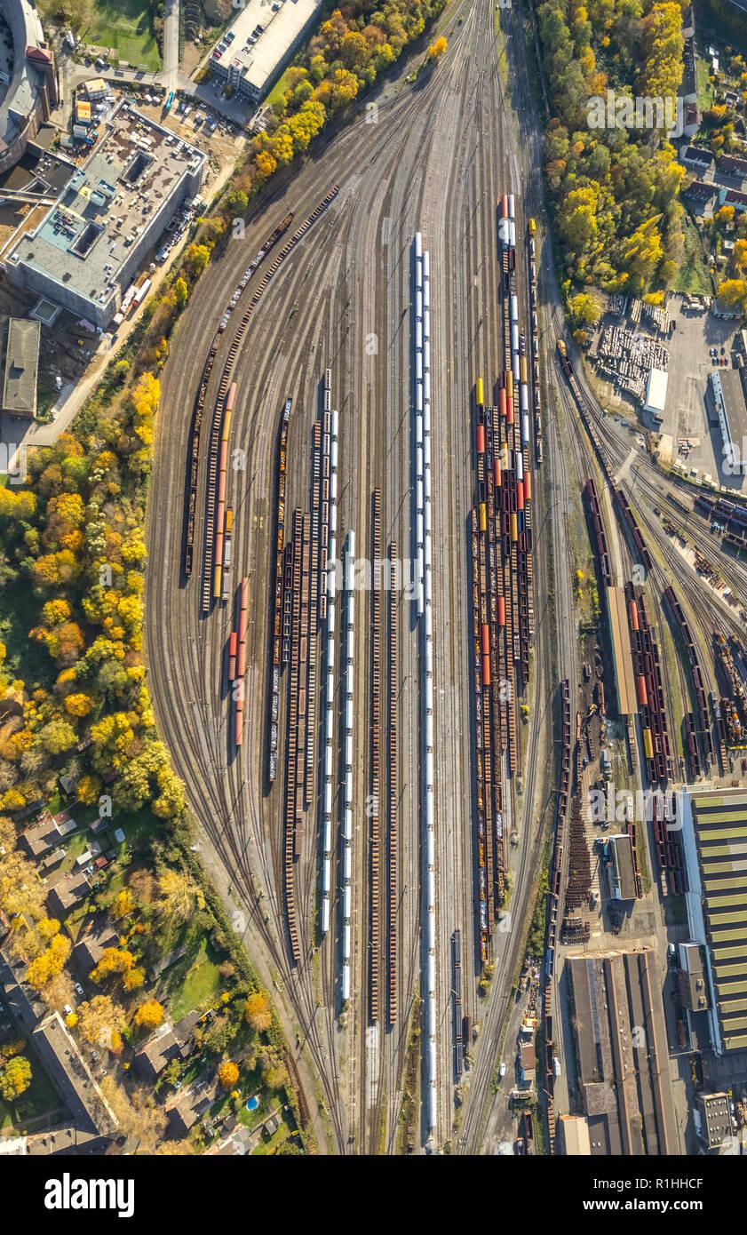 Thyssenkrupp Steel Europe AG Duisburg, Alt-Hamborn, Duisburg, Ruhr Area, North Rhine-Westphalia, Germany, DEU, Europe, aerial view, birds-eyes view, a - Stock Image