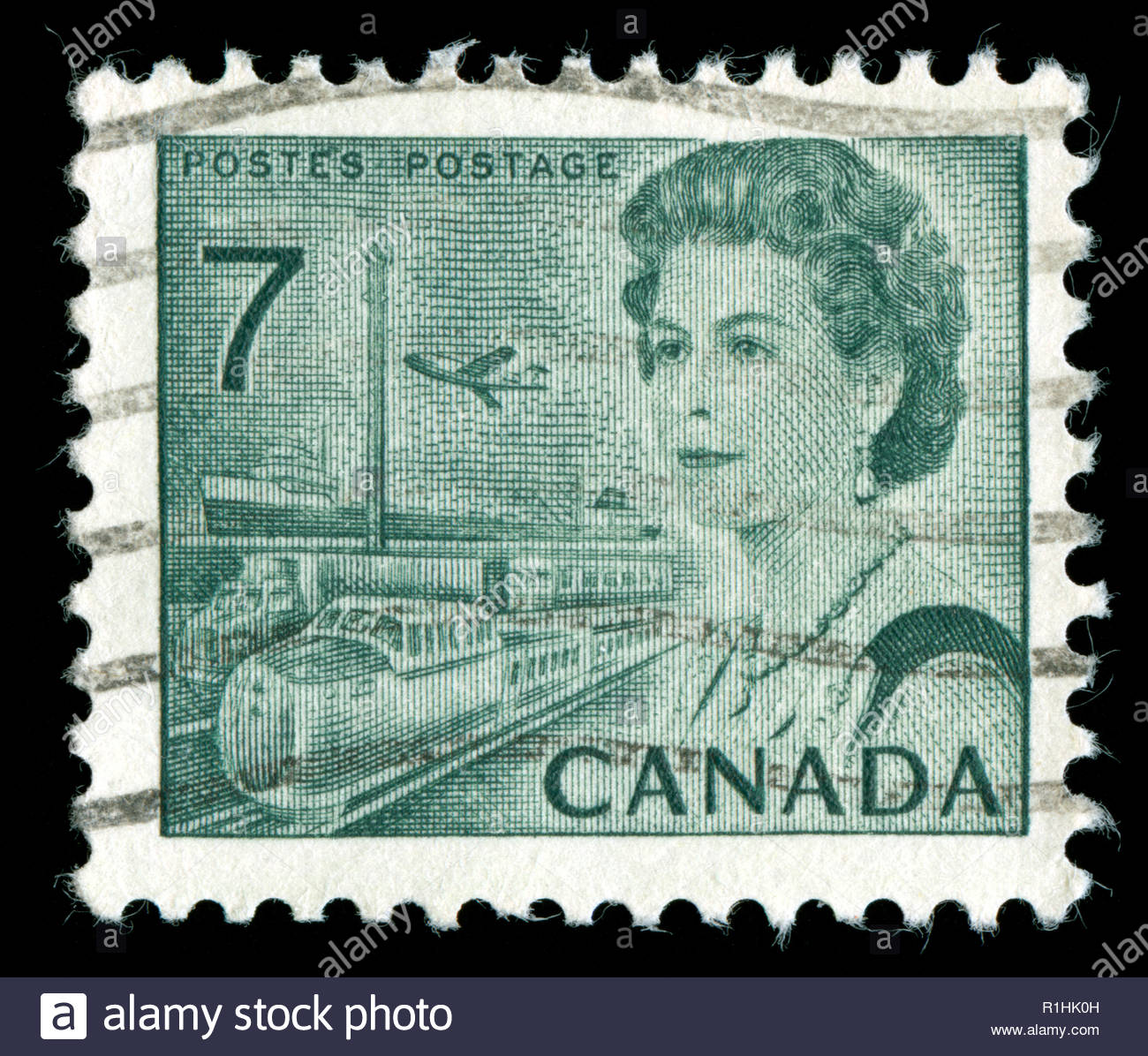 Postmarked Stamp From Canada In The Centennial Definitives 1967 71 Series