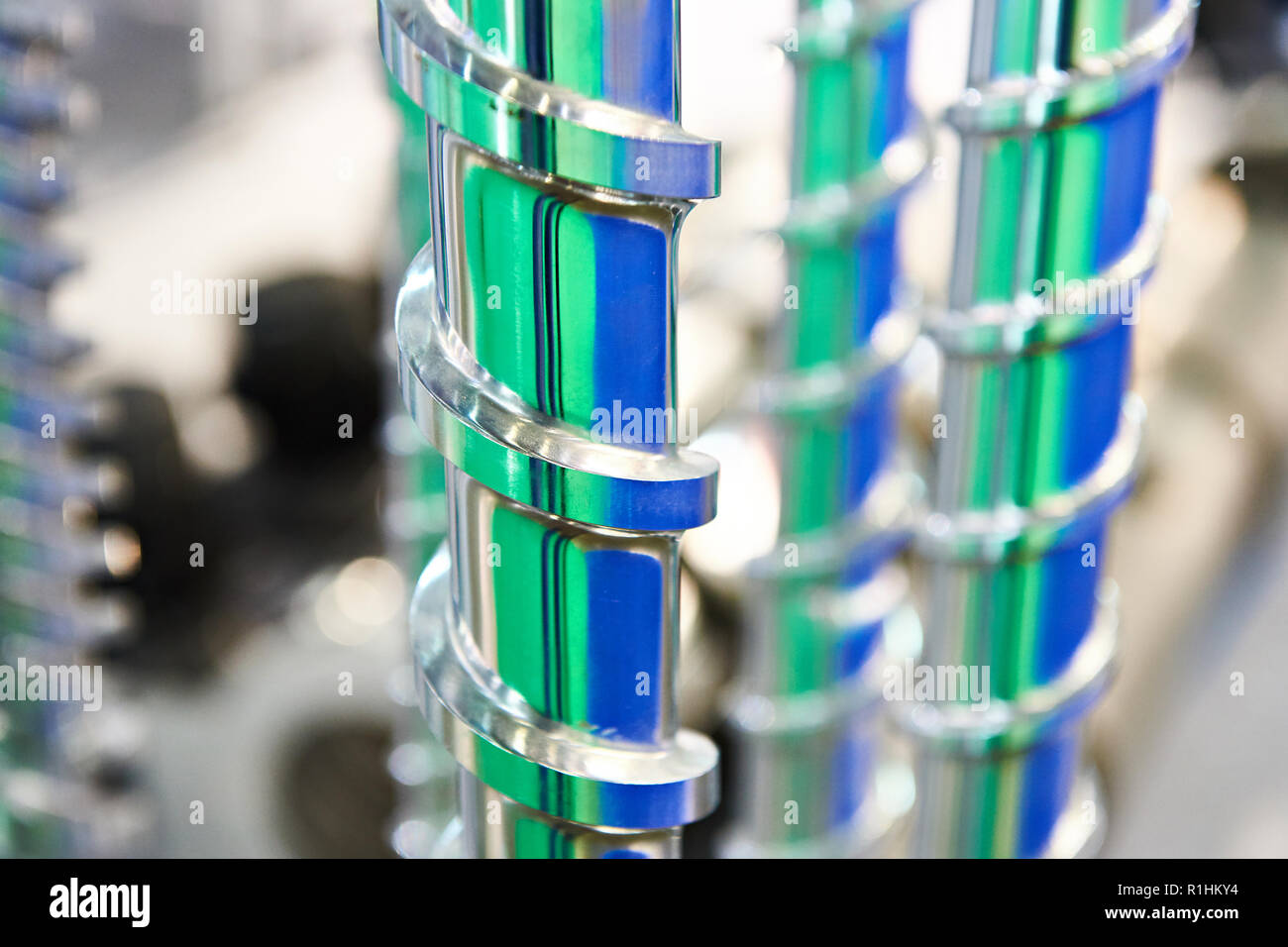 Large borer drills in shop Stock Photo