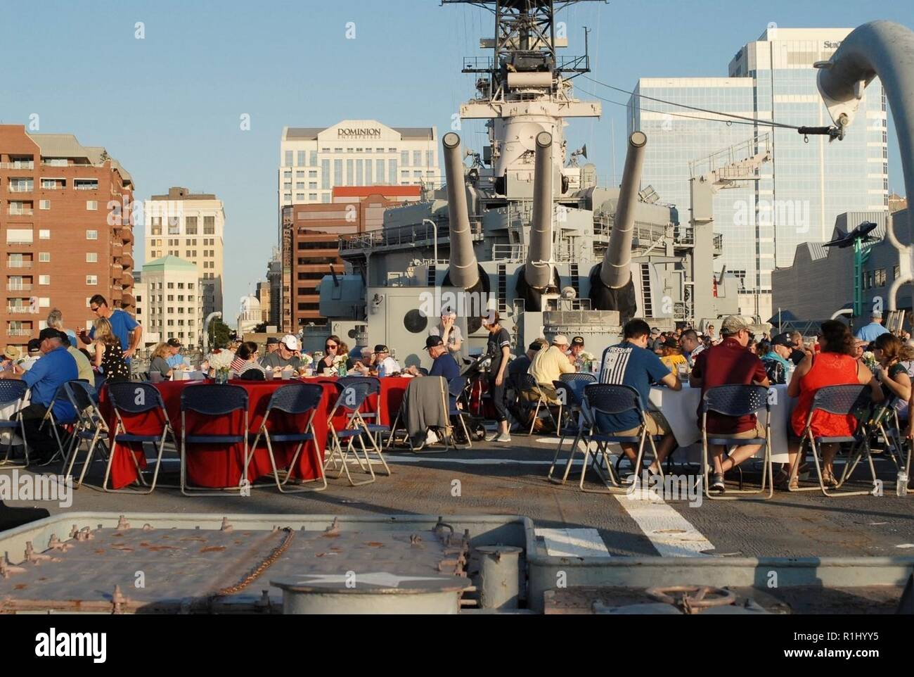 Nearly 200 USS Wisconsin (BB-64) veterans from WWII, the