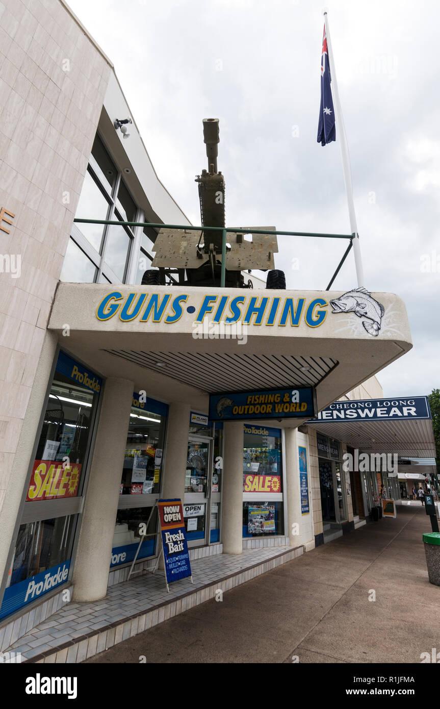 Otudoor pursuits shop in Darwin, Northern Territory in Australia - Stock Image