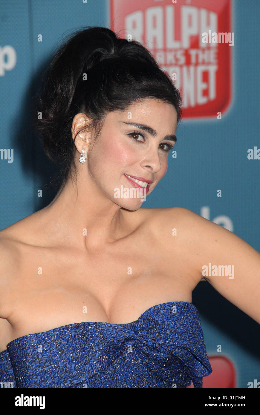 Sarah Silverman  11/05/2018 The World Premiere of 'Ralph Breaks the Internet' held at El Capitan Theatre in Los Angeles, CA   Photo: Cronos/Hollywood News - Stock Image