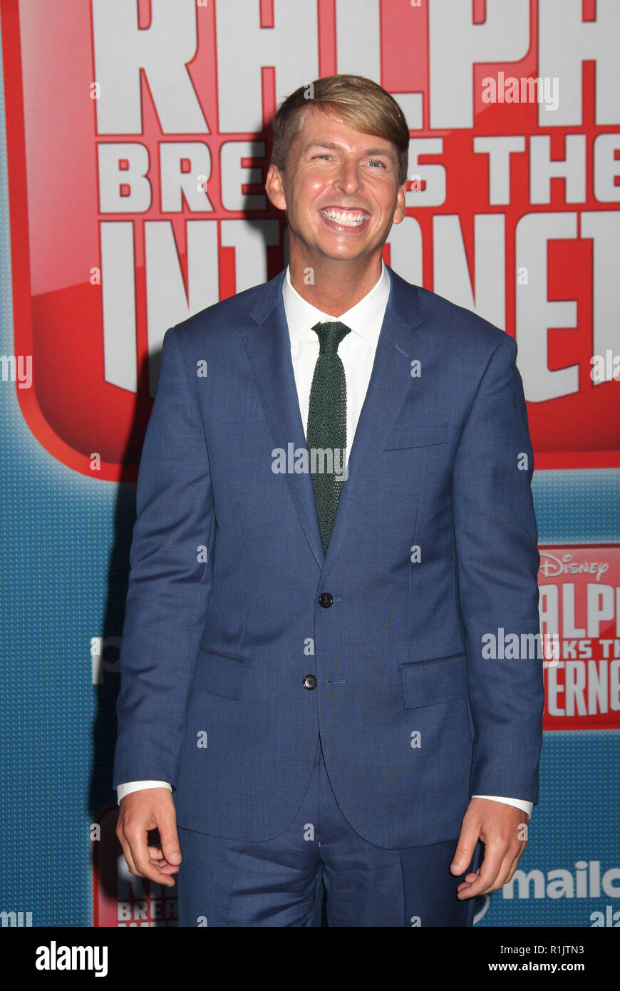Jack Mcbrayer  11/05/2018 The World Premiere of 'Ralph Breaks the Internet' held at El Capitan Theatre in Los Angeles, CA   Photo: Cronos/Hollywood News - Stock Image