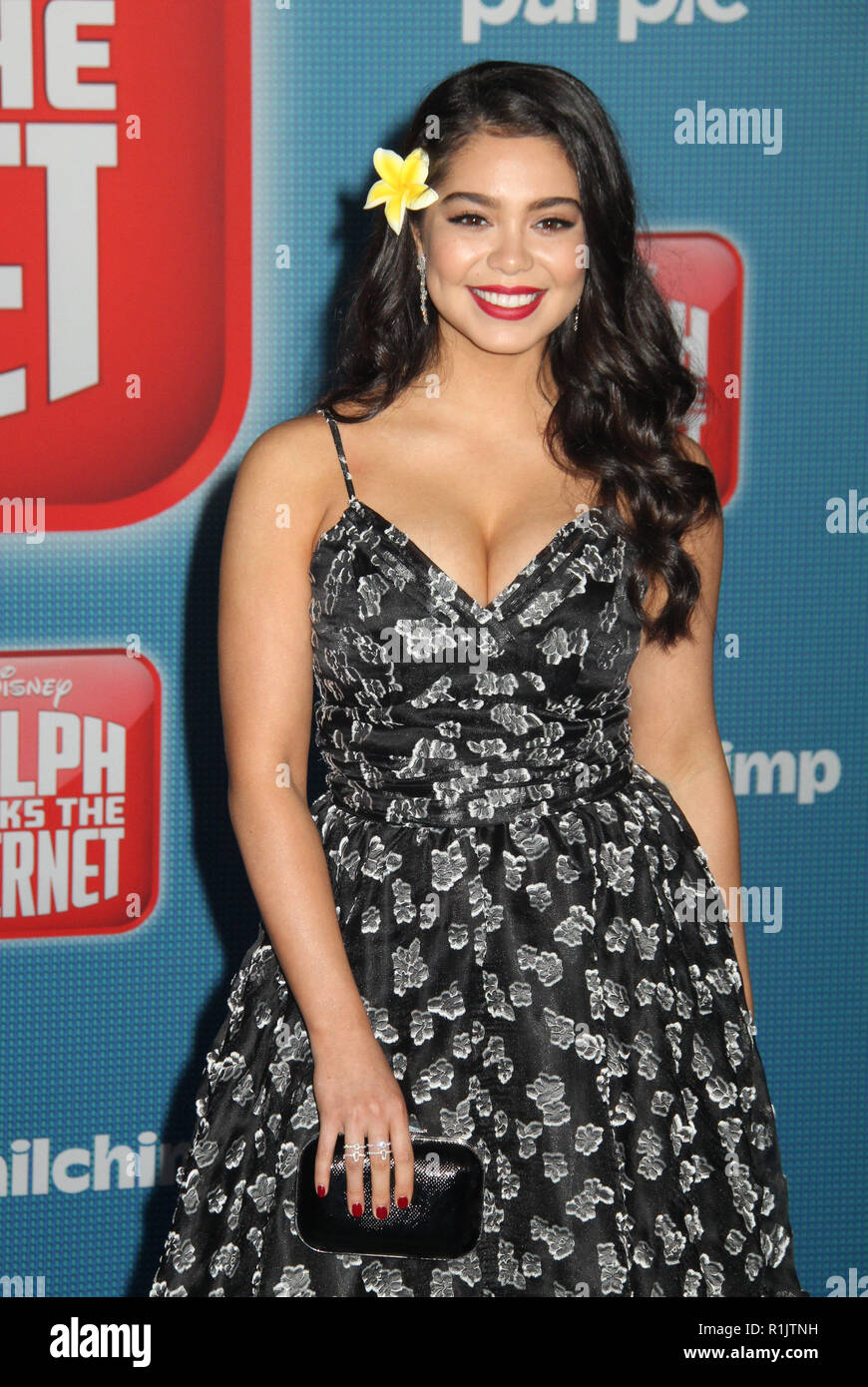 Auli'i Cravalho  11/05/2018 The World Premiere of 'Ralph Breaks the Internet' held at El Capitan Theatre in Los Angeles, CA   Photo: Cronos/Hollywood News - Stock Image