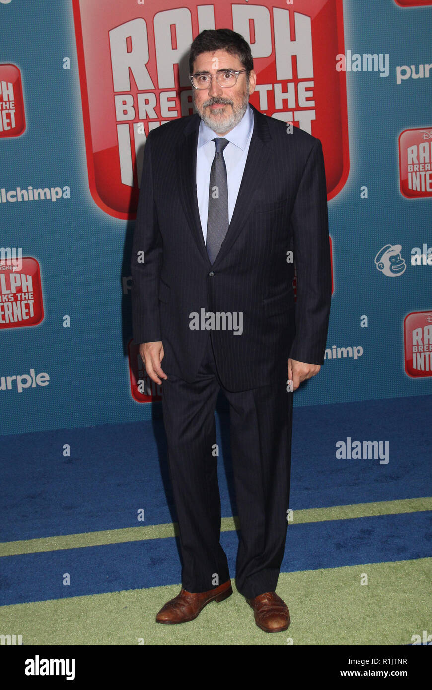 Alfred Molina  11/05/2018 The World Premiere of 'Ralph Breaks the Internet' held at El Capitan Theatre in Los Angeles, CA   Photo: Cronos/Hollywood News - Stock Image